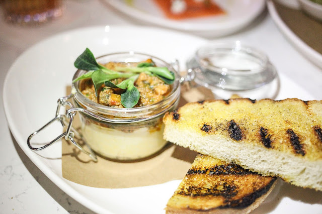 Polenta in a Jar and grilled Ciabatta