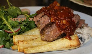 resep steak daging saus barbeque
