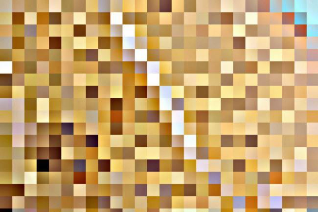 Hasil pembuatan gambar abstrak kotak-kotak
