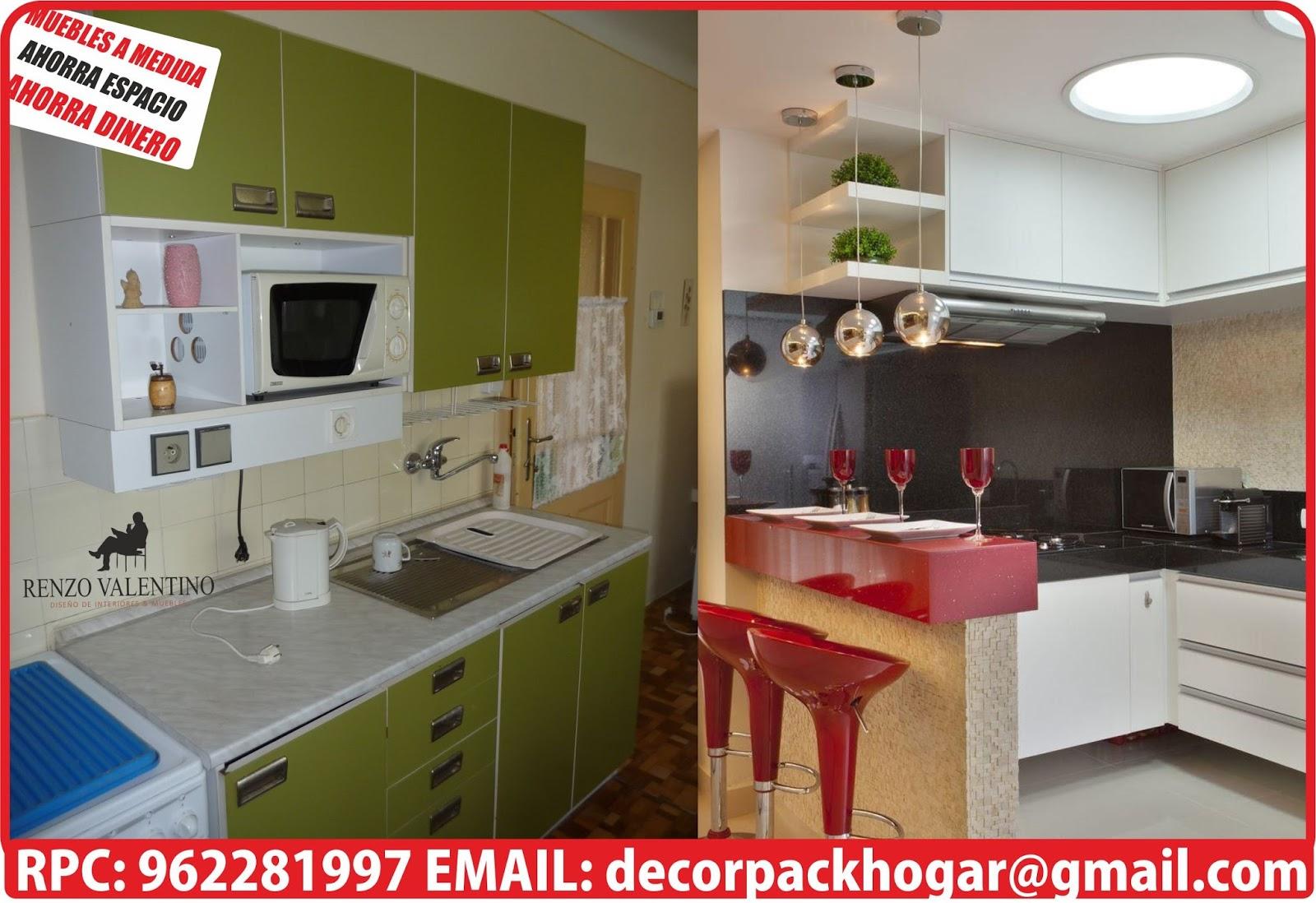 Dise os fabricacion de closet cocina y muebles de oficina for Cocinas para espacios pequenos