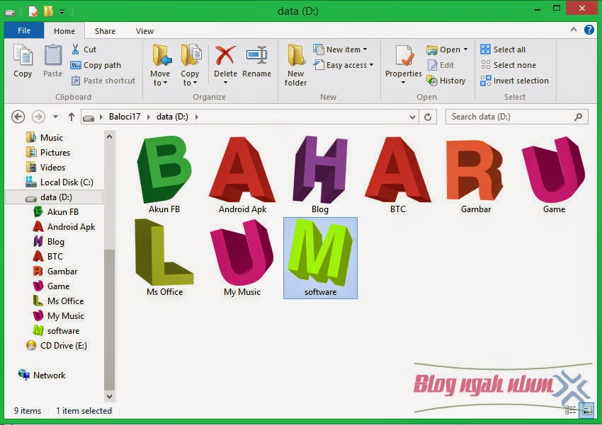 cara mengubah icon folder windows