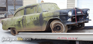 Success in securing a barn find 1955 Chevy.