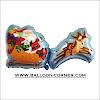 Balon Foil Kereta SANTA CLAUS