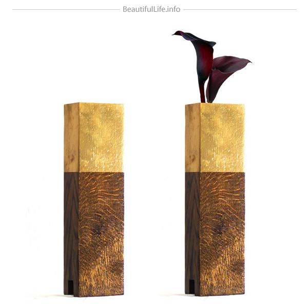 Bonitos Floreros de madera.