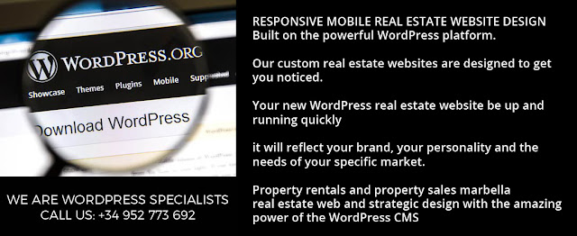 real estate wordpress design marbella