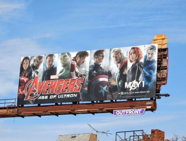 Avengers Age of Ultron movie billboard