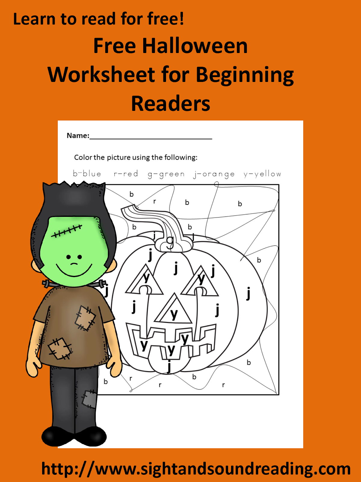 Classroom Freebies Too Color By Letter Halloween Worksheet