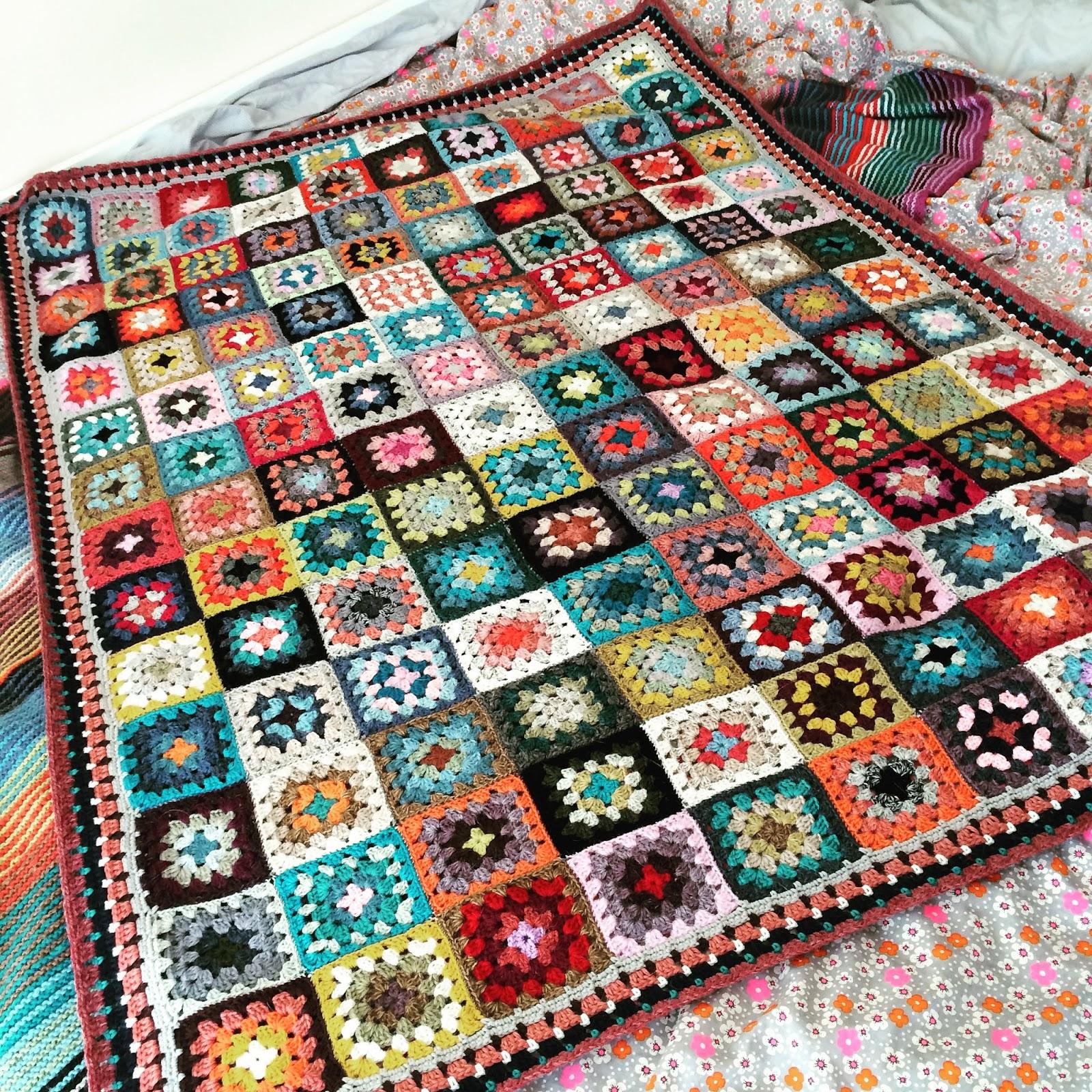 Mon Plaid Granny En Carrés Au Crochet 100 Laine