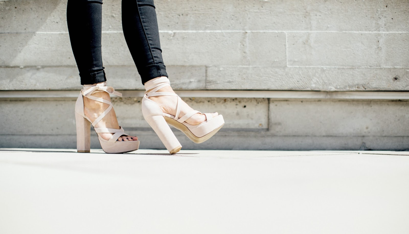 public desire laced up heels