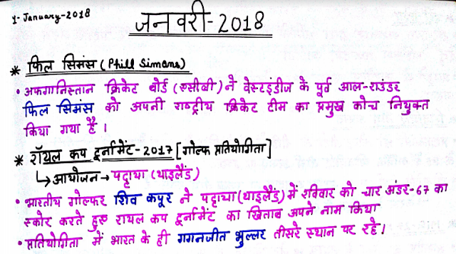 Current Affairs February 2018 in Hindi PDF Download