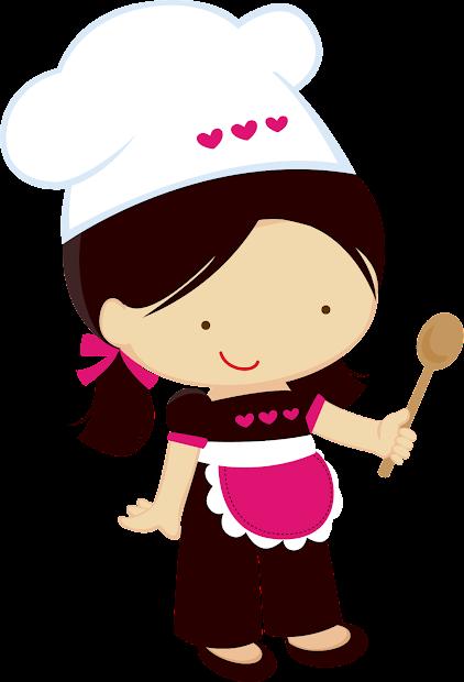 little girl chefs clipart