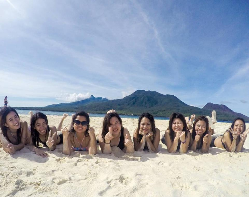 Eight bibes (babes) White Island Camiguin