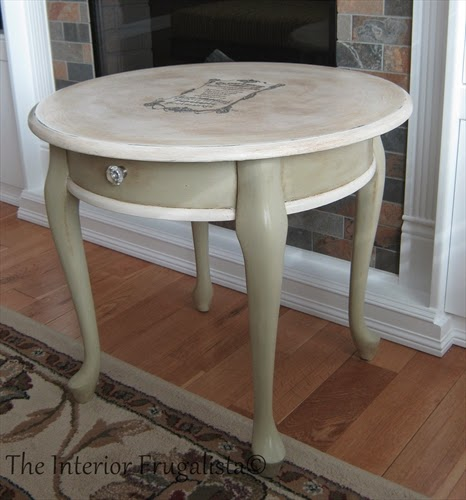 Queen Anne Table makeover for my Mom