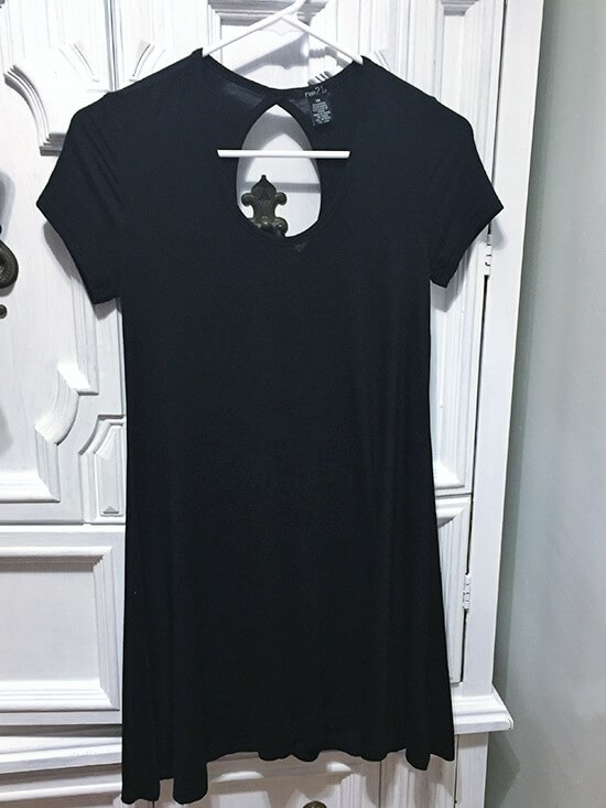 rue21 Black t-shirt dress