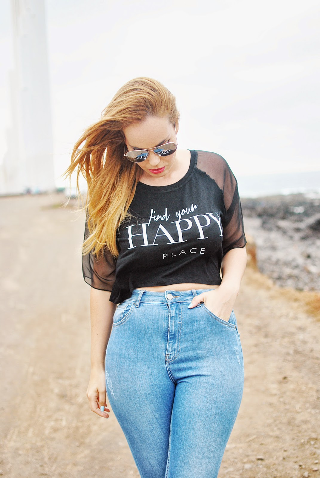nery hdez, crop top, mom jeans, sunglass junkie, blackfive, silver sunglass