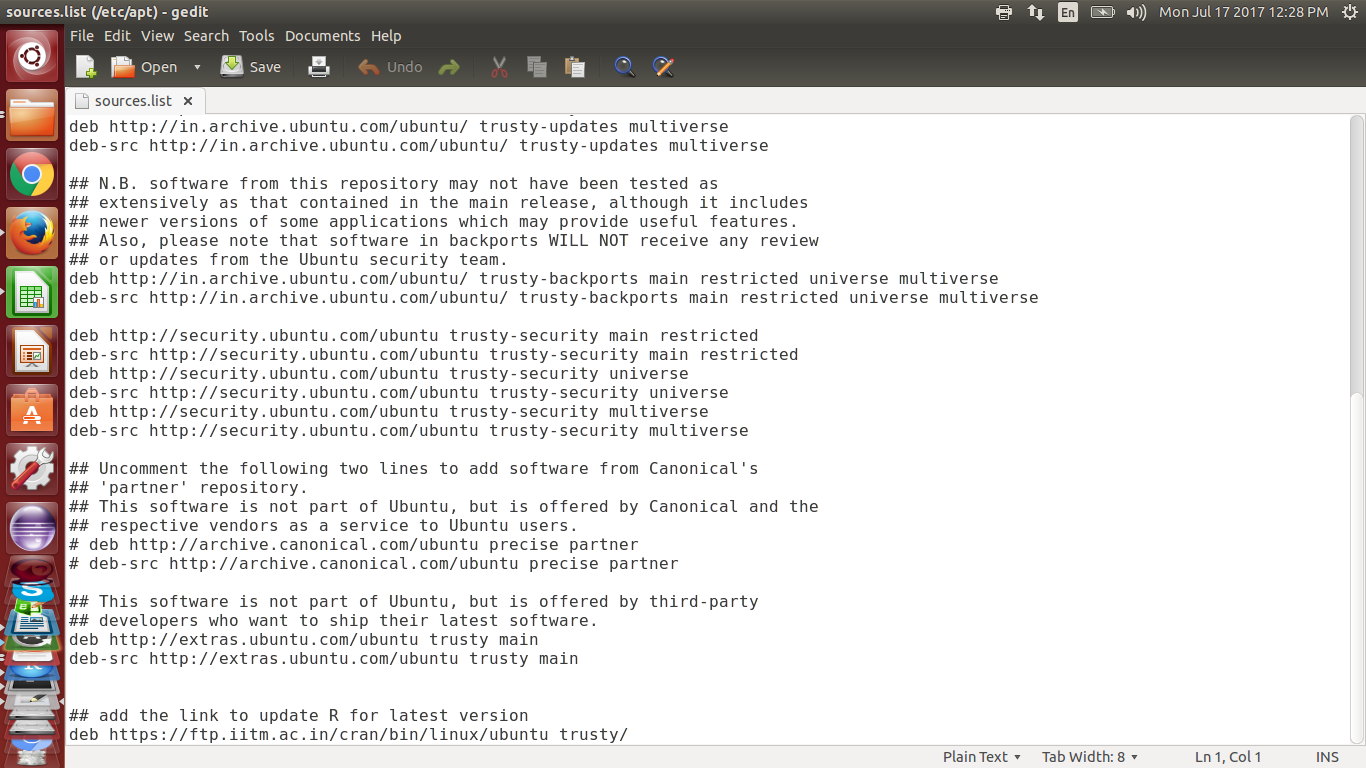 update r ubuntu command line