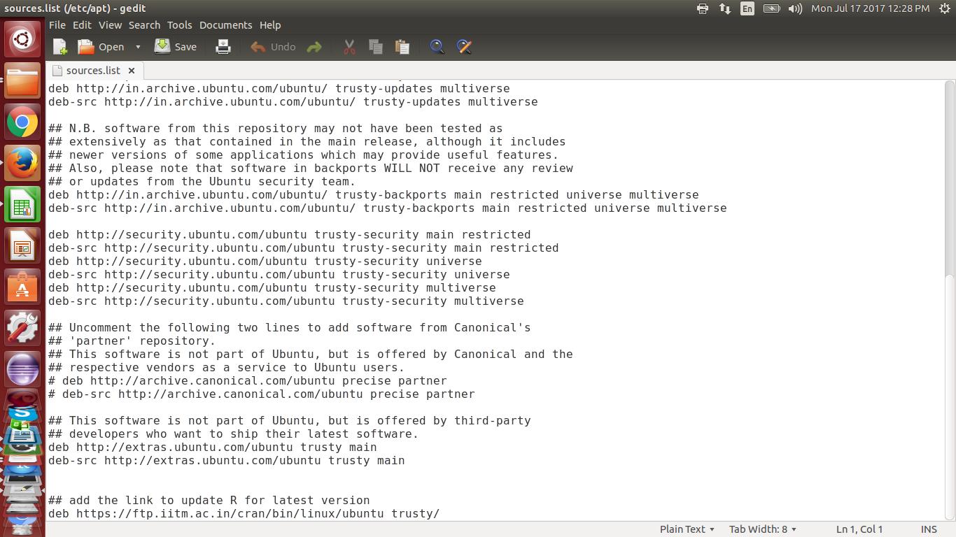 Updating r version ubuntu