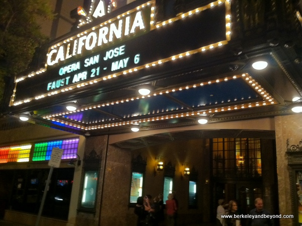 marquee at California Theater in San Jose, California
