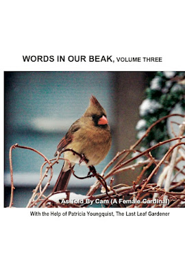 """A photograph of volume three of my book series, """"Words In Our Beak."""" Information can be found in another post on this blog @ https://www.thelastleafgardener.com/2018/10/one-sheet-book-series-info.html"""