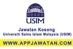 Jawatan Kosong Kerajaan 2017 di  Universiti Sains Islam Malaysia (USIM) - 18 Ogos 2017
