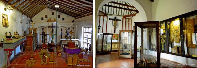 Objetos sacos expostos no Museu do Mosteiro Ecce Homo