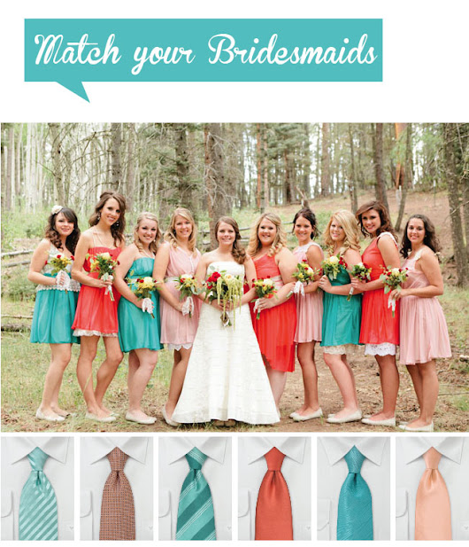 Match Your Bridesmaids: Ties for Your Groomsmen