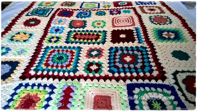 lap blanket granny squares cal pretty easy free pattern