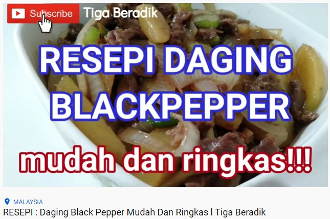 RESEPI : Daging Black Pepper