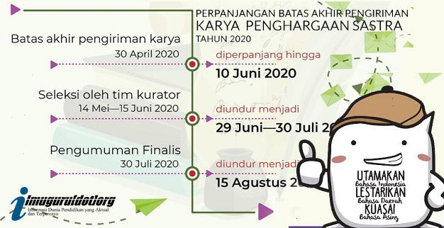 Penghargaan Sastra Kemendikbud 2020