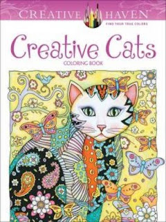 Adult Coloring Book with Cats