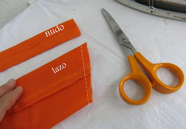como coser un lazo fácil