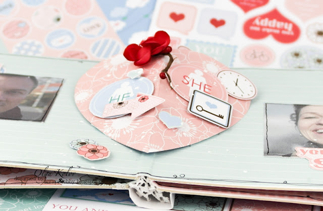@olgakolov #minialbum #you&me #scrapberrys #valentine #heart