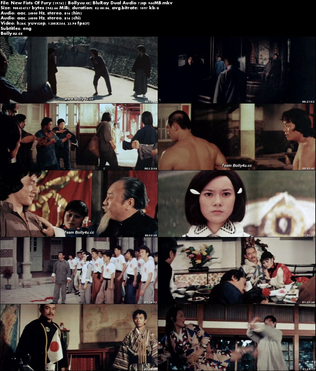 New Fists Of Fury 1976 BluRay 950MB Hindi Dual Audio 720p Download