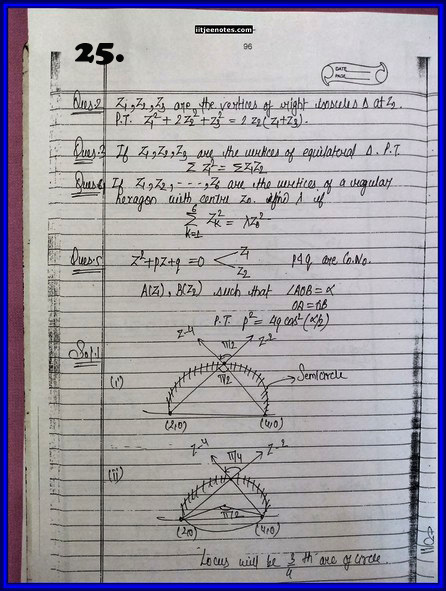 iitjee notes on complex number 25