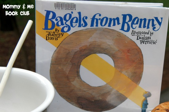Bagels from Benny with Mommy and Me Bookclub