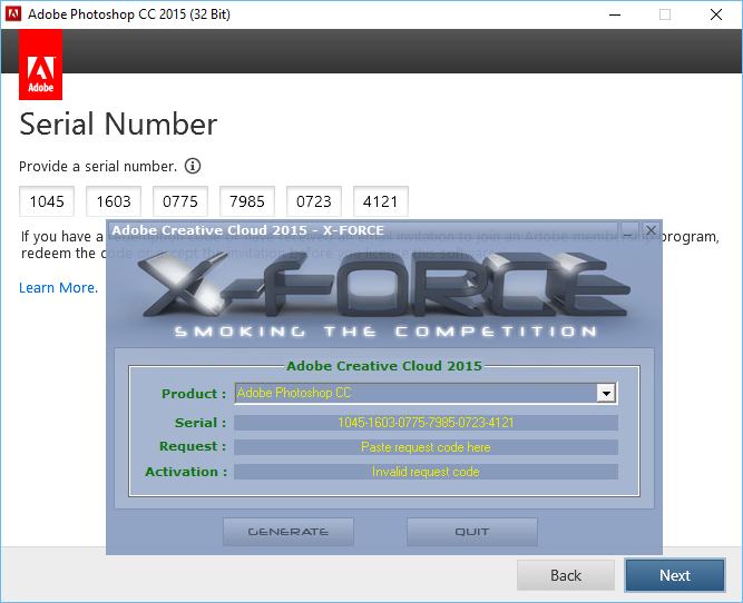 x-force keygen adobe cs6 invalid request code - Sarah Smith