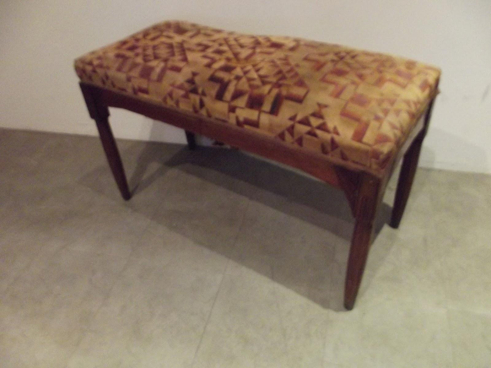 authentique ancien banc banquette de piano art d co art nouveau a. Black Bedroom Furniture Sets. Home Design Ideas