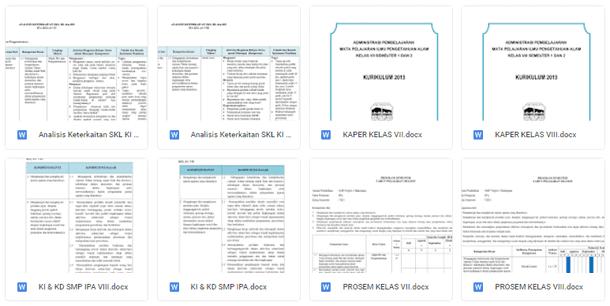 Perangkat Pembelajaran RPP, SILABUS, PROTA, PROMES, ANALISIS SKL, KI KD IPA Kelas 7, 8, 9 Kurikulum 2013 SMP-MTs