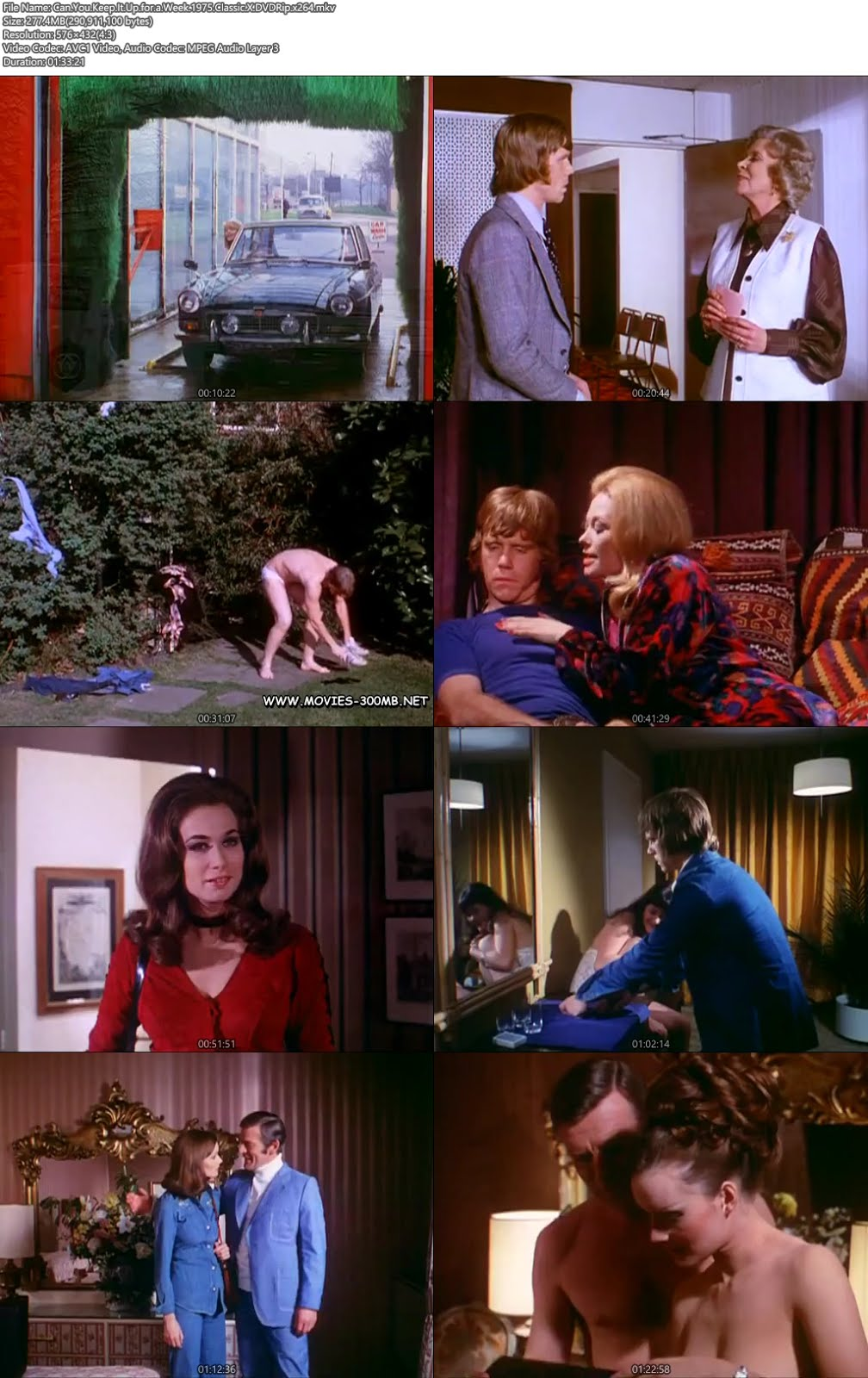 [18+] Can You Keep It Up for a Week 1975 300MB Classic X DVDRip x264 Screenshot
