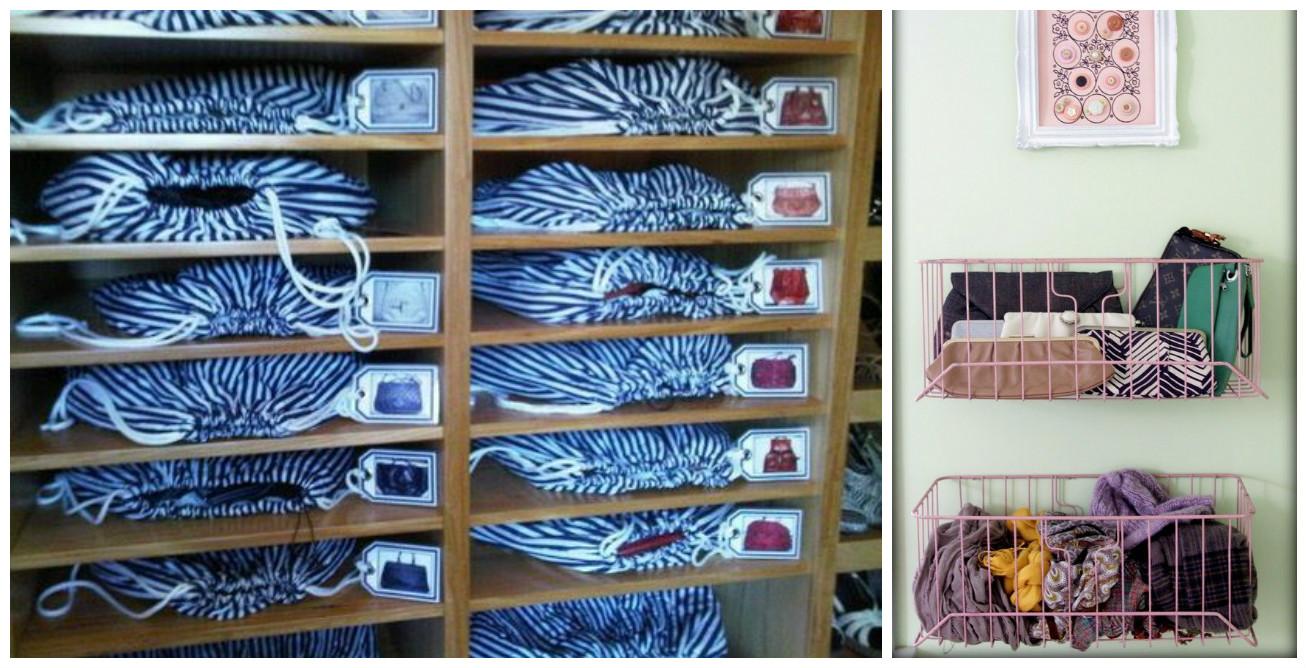 10 maneras ingeniosas de c mo organizar bolsos y carteras en casa cositasconmesh - Como guardar los bolsos ordenados ...