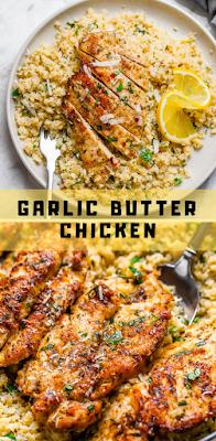 15-Minute Gаrlіс Butter Chicken with Pаrmеѕаn Cаulіflоwеr Rісе