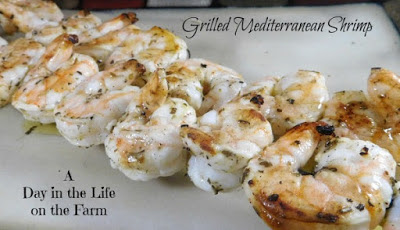 Grilling Bucket List - Grilled Mediterranean Shrimp #Celebrate365