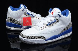 Nike Air Jordan True Blue Sepatu Basket Premium, harga jordan 3 true blue , jordan 3 retro , jordan retro replika, premium, i,port ,murah