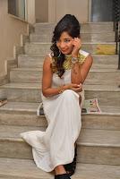 Actress Ishita Latest Stills in White Long Dress at Ippatlo Ramudila Seethala Evaruntaarandi Babu movie Audio Launch  06.jpg