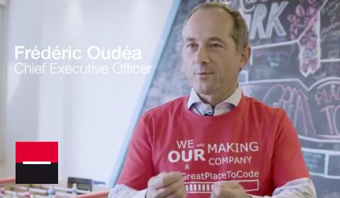 Frédéric Oudéa en stage de code