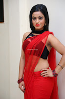 Aasma Syed in Red Saree Sleeveless Black Choli Spicy Pics ~  Exclusive Celebrities Galleries 018.jpg