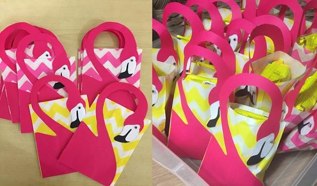lembrancinha para festa de flamingos