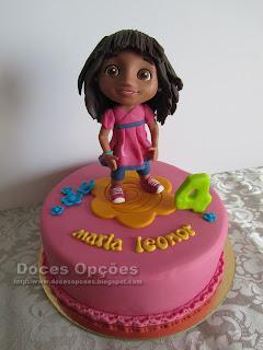 A Dora Exploradora no 4º aniversário da Maria Leonor
