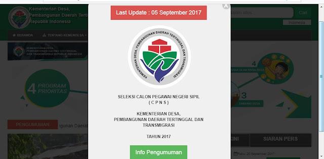 Buruan Daftar !! Seleksi CPNS Kementerian Desa, Pembangunan Daerah Tertinggal Dan Transmigrasi