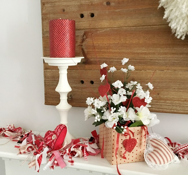 Vintage Paint and more... Valentine decor made from Dollar Tree Items